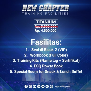 Fasilitas Training ESQ New Chapter Titanium